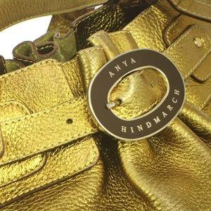 """🆕 Anya Hindmarch London""""Pure Gold"""" Large  Handbag"""